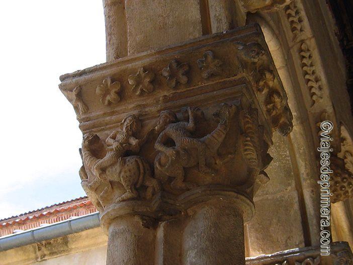 Los capiteles de Santa María la Real de Nieva también representan simbología relacionad con el pecado y los vicios
