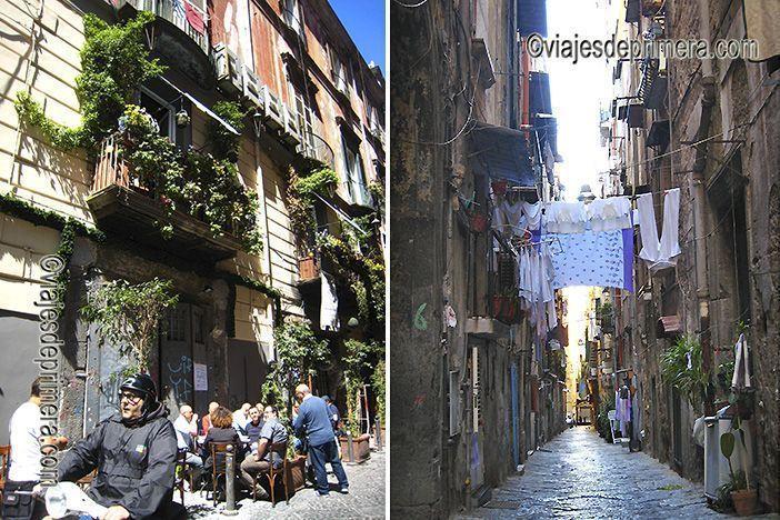 Callejeando podrás disfrutar de algunas de las mejores escenas que ver en Nápoles.