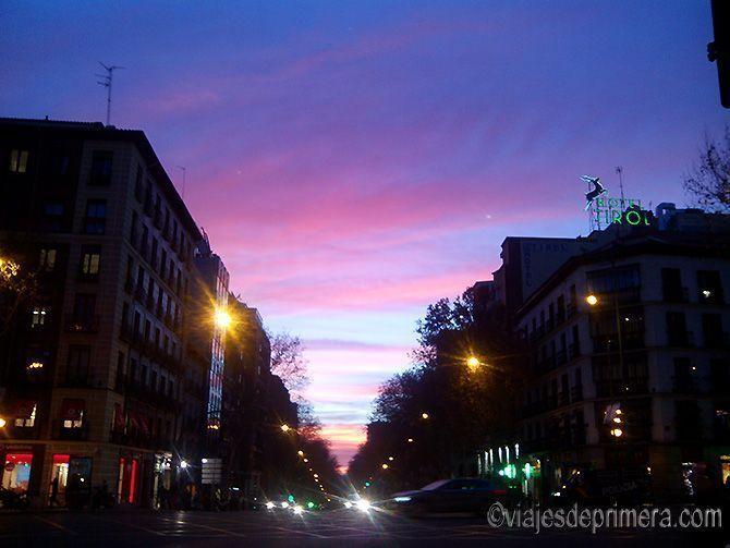 El dicho dice que de Madrid al cielo y estos atardeceres le dan la razón