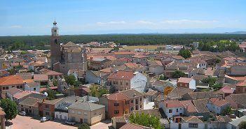Vistas de Coca, uno de los pueblos bonitos de Segovia, desde lo alto de la iglesia de San Nicolás