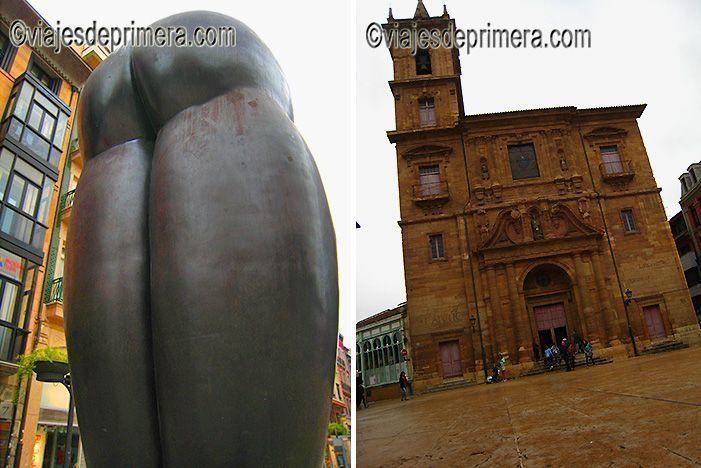 Culis Monumentalibus de Úrculo es una de las esculturas de este artista que salpican las calles de Oviedo y que conviven armoniosamente con edificios clásicos, como el Ayuntamiento de Oviedo.