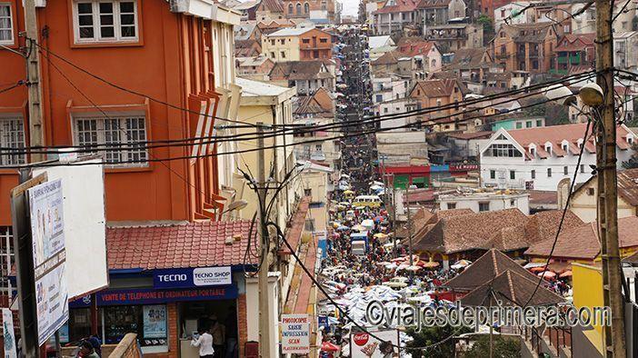 El Barrio de Ambondrona es uno de los lugares que ver en Antananrivo, capital de Madagascar