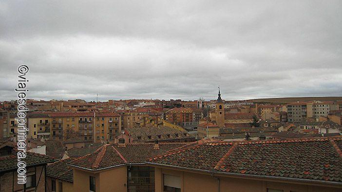 Vistas desde el Mirador de la Canaleja cerca de la Casa de los Picos de Segovia.
