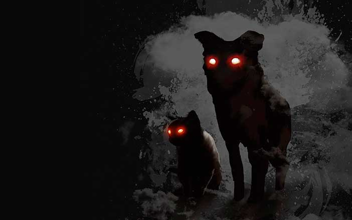 santa compaña relacionada con la leyenda de los perros negros de Bretaña