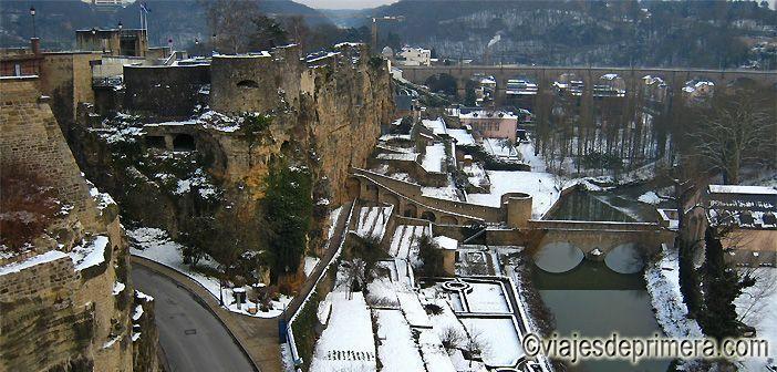 Vistas de Ciudad de Luxemburgo desde The Bock, Patrimonio de la Humanidad