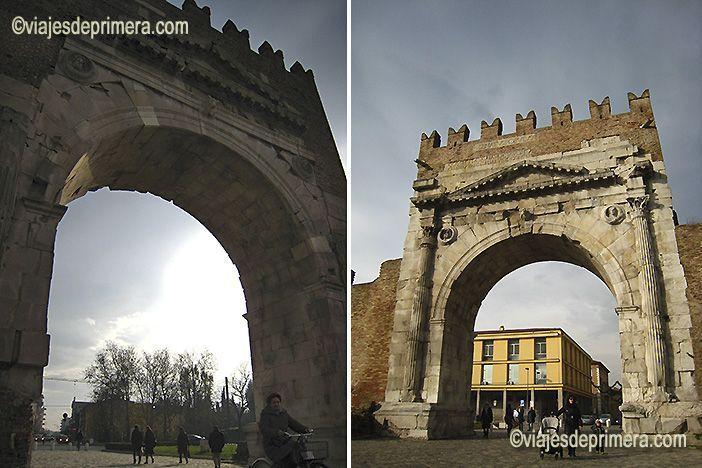 El Arco de Tiberio marcaba el final de la Vía Flaminia, una de las más importantes que cruzaban Italia.